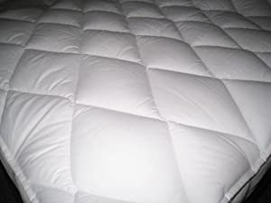 The Bettersleep Company Hotel Quality Supersoft Polycotton Box Stitched Quilted Mattress Topper Double Bed - Extra comfort & Anti Allergenic