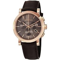 Burberry BU1863 - Reloj de hombre (correa de piel), color marrón