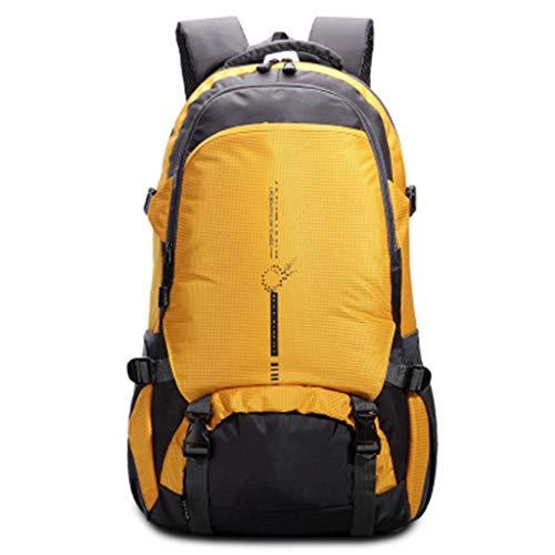 Großraumrucksäcke Für Damen Und Herren, Camping Im Freien Wandern Großraumrucksäcke Bequemes Camping,Yellow 806 Oxford