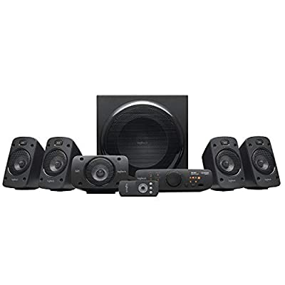 Logitech Z906 Stereo Speakers 3D 5.1 Dolby Surround Sound, THX, 1000 W, Ideal For TV and Living Room from Logitech