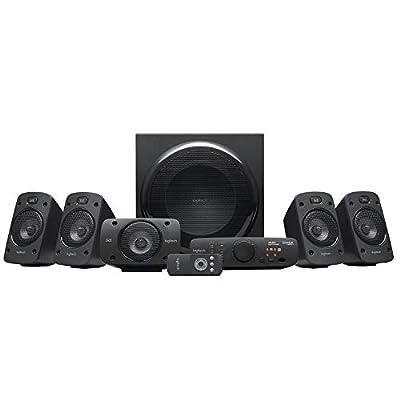 Logitech Z906 5.1 Surround Sound Speaker System, EU PLUG, THX, Dolby & DTS Certified, 1000 Watts Peak Power, Multi -Device, Multiple Audio Inputs, PC/PS4/Xbox/Music Player/TV/Smartphone/Tablet, Black by Logitech