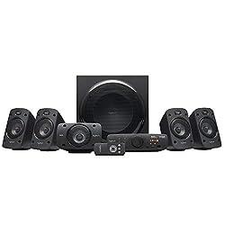 Logitech Z906 5.1 Sound System, Lautsprecher mit 1000 Watt Surround Sound, THX, Mehrere Audio-Eingänge, Fernbedienung, Multi-Device, PC/PS4/Xbox/Stereo-Anlage/TV/Smartphone/Tablet - UK-Stecker