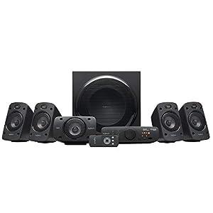 Logitech Z906 5.1 Sound System, Lautsprecher mit 1000 Watt Surround Sound, THX, Mehrere Audio-Eingänge, Fernbedienung, Multi-Device, PC/PS4/Xbox/Stereo-Anlage/TV/Smartphone/Tablet – EU-Stecker