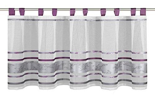 Albani Schlaufenpanneaux, Weiß-Lila, 50 x 140 cm (H x B), fertig konfektioniert, 1 Stück, Willkommen Zuhause Joline 2, 269710