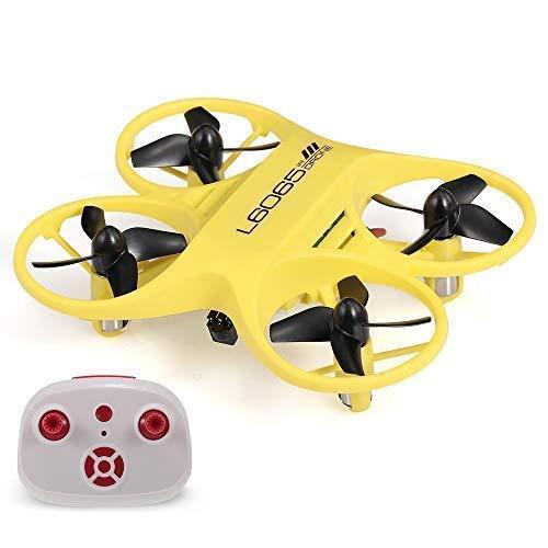 RCTecnic Mini Drohne für Kinder Tasche Super Robuster Tornado Ultrapräzise Infrarotsteuerung ohne Höhensteuerung für mehr Spaß Maße 9 x 7,5 x 2,5 cm Akrobatikdrohne (Gelb)