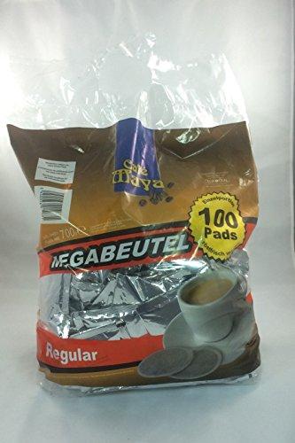 100 Kaffeepads im Megapack Eurocafe Cafe Maya Regular einzeln aromaversiegelt
