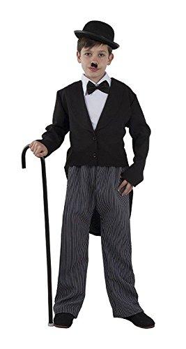 DISBACANAL Disfraz Charles Chaplin Infantil - Único, 6 años