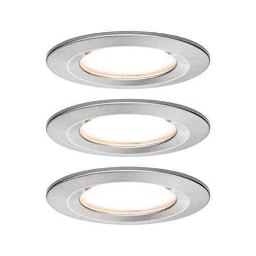 Paulmann Nova Bad-Einbauleuchte 3er Set LED EEK: A+ (A++ - E) LED 19.5W IP44 Edelstahl (gebürstet)