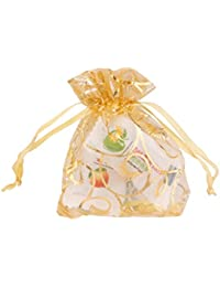 Generic 100 Wedding Party Favour Gift Organza Bags Jewellery Pouches Champagne 7X9Cm