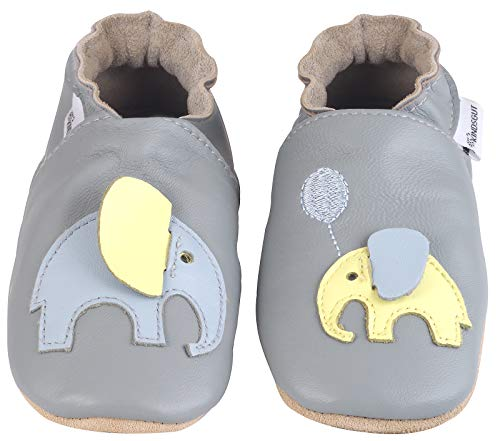 Kindsgut Krabbel-Schuhe, Kita, Baby, echtes Leder, Gr. 22/23, Elefant