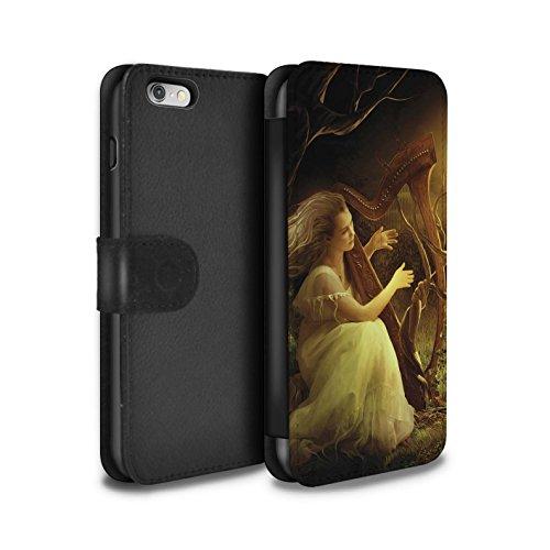 Officiel Elena Dudina Coque/Etui/Housse Cuir PU Case/Cover pour Apple iPhone 6S / Beauté/Violon Design / Réconfort Musique Collection Mélodie du Silence