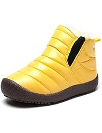 8b64af943c305 Botas Niño Invierno Forrado Calentar Botas de Nieve para Niños Botines Niña  Planos Zapatos Al Aire