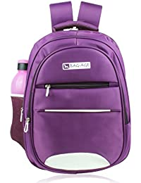 Bag-Age Collage Backpack, School Bag With Rain Cover (L) (Aviator 2)