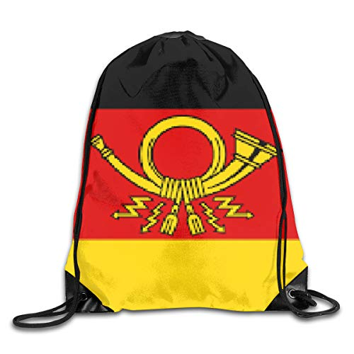 Drawstring Backpack Bags Flag of German Post Sport Athletic Gym Sackpack for Men Women (German Flag Bag)
