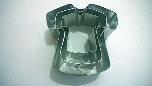 m Stahl Cookie Kuchen Cutter 2,5cm Deep Set von 3-von Euro Dosen ()
