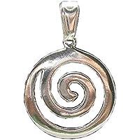 Ciondolo in argento massiccio 925 spirale PE000052