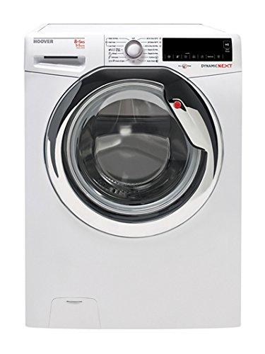 Hoover wdxt45385A-S eigenen B weiß Tragkraft Waschmaschine mit trockenem Tuch (vorne, vorne Laden,, weiß, links, Touch LCD)