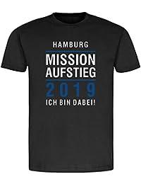 376cf12722 T-Shirt Hamburg | Mission Aufstieg 2019 | Ich Bin Dabei | Fanartikel -  qualitativ…
