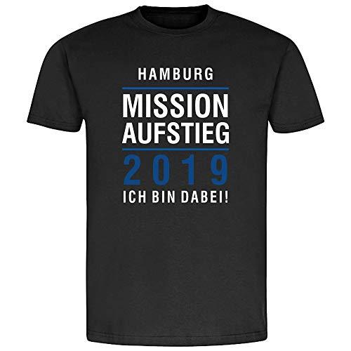 T-Shirt Hamburg | Mission Aufstieg 2019 | Ich Bin Dabei | Fanartikel - qualitativ hochwertig Bedruckt (XXL)