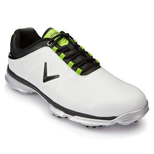 Callaway Hombre XTT Comfort Spiked Zapatos De Golf con Clavos Blanco EU 42 (UK 8)