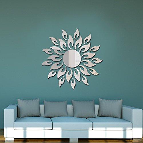Jintie COOWOO Custom 3D aus massivem Acryl spiegel Wand Dekoration einfache Wohnzimmer Büro Sonnenbrille silber Spiegel, in