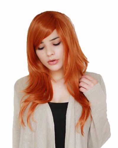 Prettyland C631 - 60cm Perruque orange dégradée - effet naturel - résistant au lavage à haute température