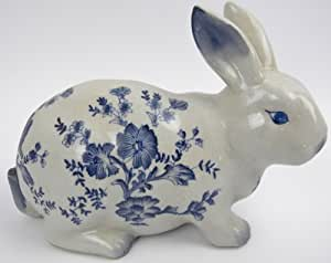 hase porzellan osterhase keramik osterdeko kaninchen ostern deko zwiebelmuster blau. Black Bedroom Furniture Sets. Home Design Ideas