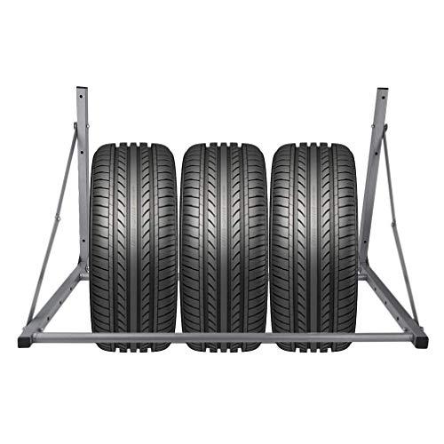 Kitechildhrrd Reifenhalter Wandhalterung Klappbar Wandmontage Felgenhalter Reifenwandhalter Felgenständer Reifenständer Breite 71 bis 122 cm zur Lagerung von Reifen - für Verschiedenen Auto