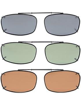 Eyekepper Gris / Marrón / G15 Lente 3-paquete de Clip-on gafas de sol polarizadas 52x32MM