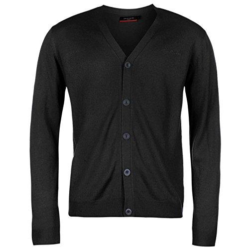 pierre-cardin-uomo-cardigan-in-maglia-maglione-pullover-manica-lunga-bottoni-blu-marino-extra-sml