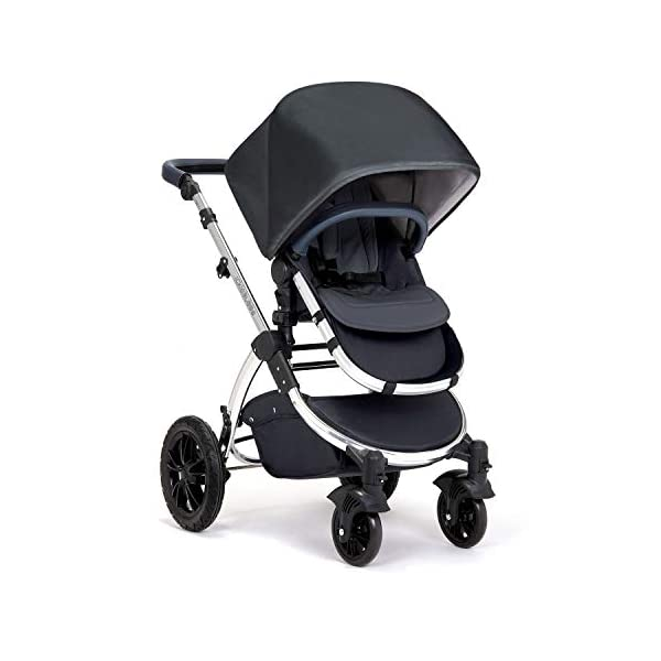 Ickle Bubba Stroller, Baby Travel System | Bundle incl Rear and Forward-Facing Pushchair, Car Seat, ISOFIX Base, Carrycot, Footmuff and Raincover | Stomp V4 Special Edition, Woodland Chrome Ickle Bubba DO-IT-ALL TRAVEL SYSTEM: Features luxury carrycot, reversible pushchair, and Galaxy Group 0+ lined car seat and ISOFIX base. Easy-click release allows for quick transitions between car and stroller LIGHTWEIGHT, QUICK FOLD: 6.5kg chassis with wheels. BUILT IN STORAGE: Matching stow away bottom basket with high sides for increased storage; changing bag with shoulder strap and mats included FORWARD AND PARENT FACING TODDLER SEAT: The multi-position recline allows your child to lie comfortably for naps or sit upright to take in the sights. 4