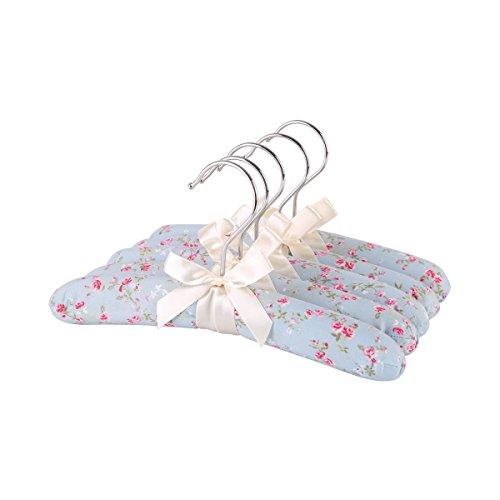 Neoviva grucce appendiabiti per bambini, in spugna morbida imbottita, confezione da 5 pezzi, Tessuto, Floral Blue Ocean, 26(L) CM for Baby