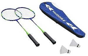 HUDORA Badminton-Set Winner - 2 Badmnton-Schäger + 2 Kork-Federbälle - 76409