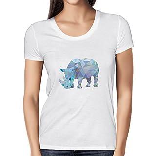 Texlab Poly Rhino - Damen T-Shirt, Größe L, Weiß