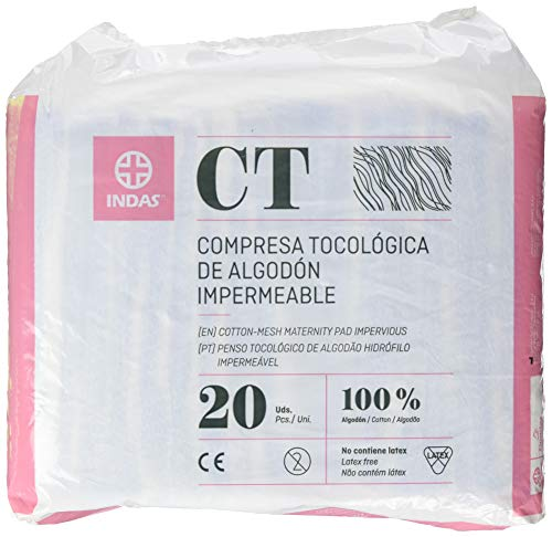 INDAS, Compresa Tocológica Algodón Impermeable