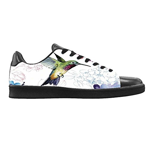 dalliy Hummingbird And Flower Mens Canvas Shoes Chaussures Lace Up High Top pour Sneakers Toile Chaussures de chaussures de toile chaussures de sport C