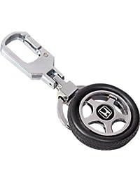 CVANU Honda Spinning Tyre Rotary Wheel Locking Metal Keychain / Key Ring / Key Chain For Mahindra Supro