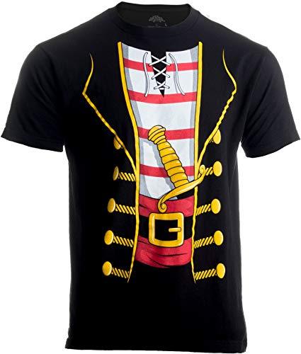 Herren/Unisex T-Shirt mit großem Print vom Piratenkostüm - ideal als lustige Halloween-Verkleidung - - Professionelle Piraten Kostüm Für Erwachsene