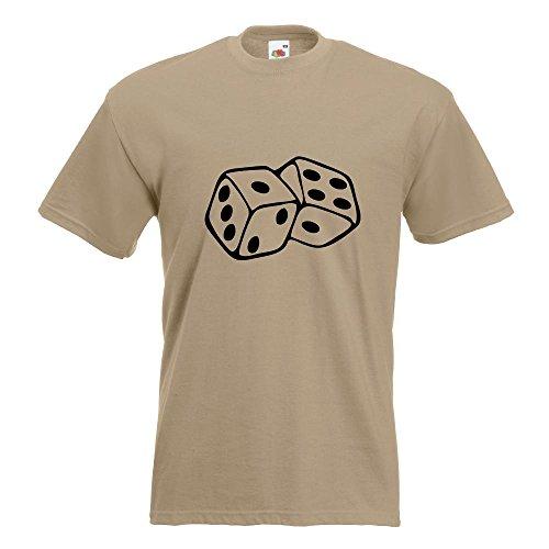 KIWISTAR - Würfel T-Shirt in 15 verschiedenen Farben - Herren Funshirt bedruckt Design Sprüche Spruch Motive Oberteil Baumwolle Print Größe S M L XL XXL Khaki