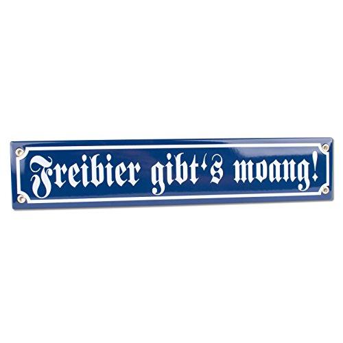 """Emaille-Schild """"Freibier, gibt's morgen"""