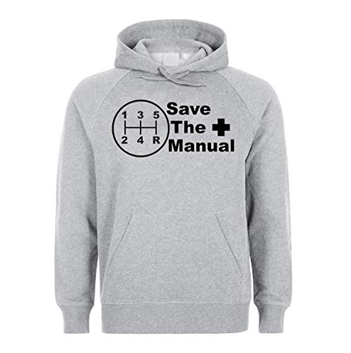 KRISSY Save The Manual Car Cars Gearbox JDM Unisex Sweatshirt Hoodie Kapuzenpullover XX-Large -