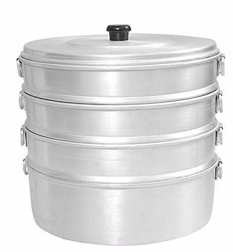 "Singla Aluminium Momos Steamer 8"" With 4 Tier Water Capacity 2.3 Liters"