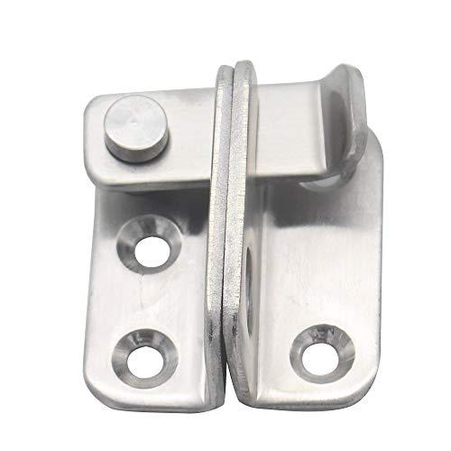 Atlojoys La puerta de acero inoxidable se traba en la cerradura de la puerta de seguridad de la puerta izquierda/derecha del candado del candado con el agujero del candado