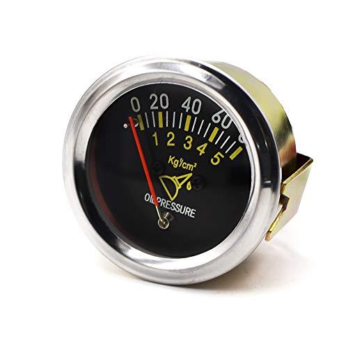 Quadro Strumenti Tabella metrica del sensore di Pressione dell'automobile dell'olio 0-80 PSI dell'olio Meccanico da 2 Pollici 52mm per Motori, Navi, Auto modificat