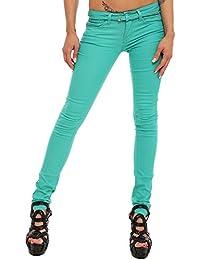 5817 Fashion4Young Damen Röhrenhose Stretch-Stof Hose pants verfügbar in 5 Größen 5 Farben