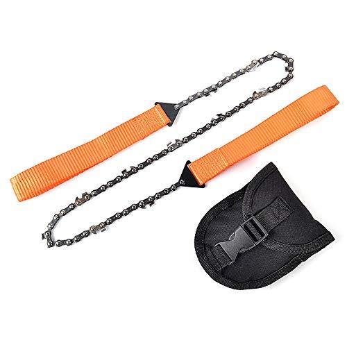 @W.H.Y Mangan-Stahl-Taschen-Kettensäge Faltende Ketten-Hand SAH schnelles Holz und Baum, der Notfall-Überlebens-Werkzeug,Orange