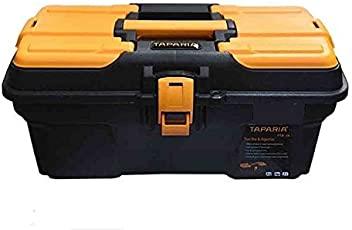 Taparia Plastic Tool Box with Organizer (PTB16) Black: Orange