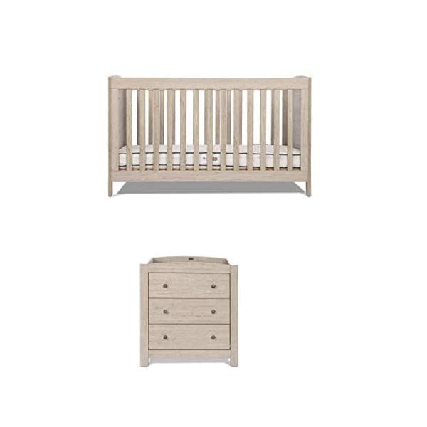 Silver Cross New England Cot Bed and Dresser Silver Cross 3 base height positions Suitable from birth to 4 years Converts into toddler bed 1