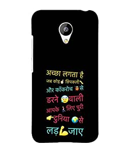 PrintVisa Designer Back Case Cover for Meizu M2 (best suited quote for girlfriend)