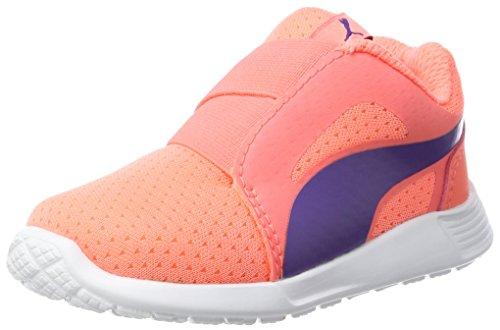 Puma Unisex-Kinder ST Trainer Evo AC Inf Sneaker, Orange (NRGY Peach-Prism Violet), 24 EU